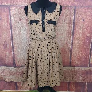 Lucy & Co black bird sleeveless dress